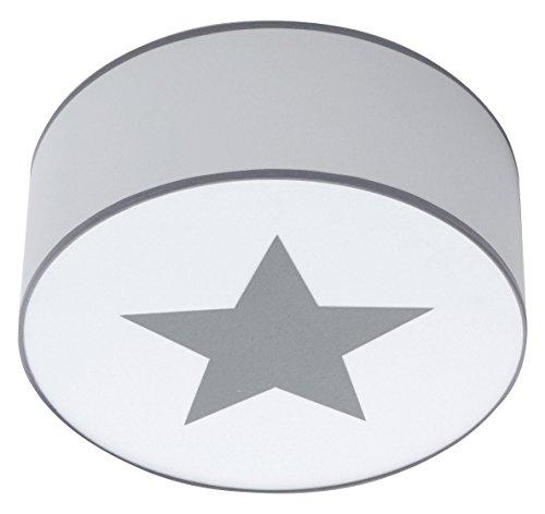 Alondra L591T-7800 - Lámpara bebé de techo con estrella, color blanco y gris