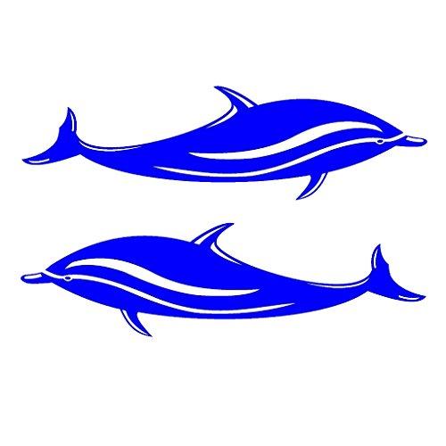 F Fityle Pegatinas De Vinilo Calcomanías De Delfines De 2 Piezas para Kayak Canoa Barco De Surf De Surf