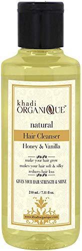 Glamorous Hub Khadi Organique - Limpiador de cabello con miel y vainilla (champú), paquete de 1 (el paquete puede variar)