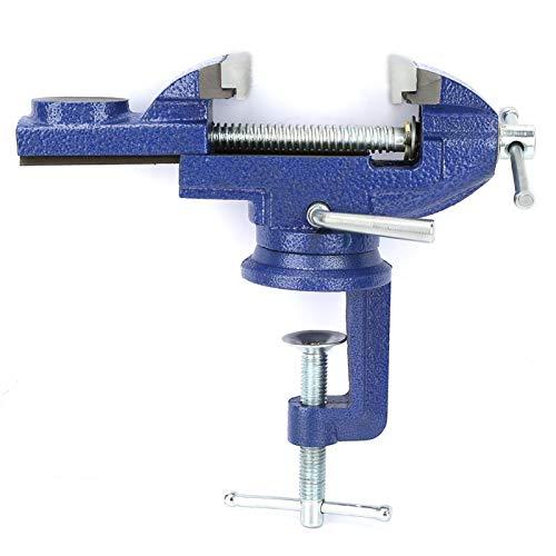 Tornillo giratorio giratorio de 360 °, tornillo de banco para mesa, bricolaje anticorrosión duradero para mesa Taladro eléctrico Pinza de procesamiento de precisión Equipo de tornillo de