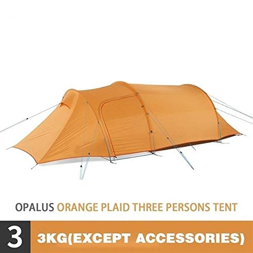 Beach Tent Outdoor Family Camping Tent Ultralight Tunnel Tent Rainproof Large Space 3 Persons Camping Tent for Camping, Fishing, Picnic (Color : 210T Polyester)