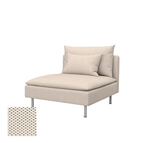 Soferia Bezug fur IKEA SODERHAMN Sitzelement 1, Stoff Nordic Creme