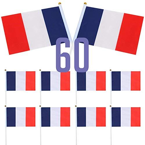 Secretarding set met 12 grote vlaggen wimpel Frankrijk – 30 x 45 cm hand – ideaal voor fans van Frankrijk 14
