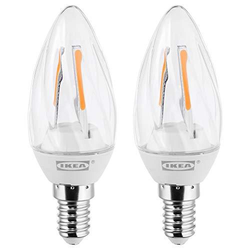 RYET LED Lampe E14 200 Lumen Kronleuchter gedreht klar