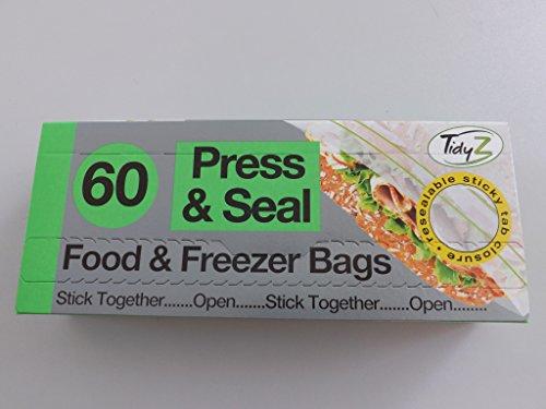 Tidyz Press & Seal Speisen und Gefrierbeutel Pack 60