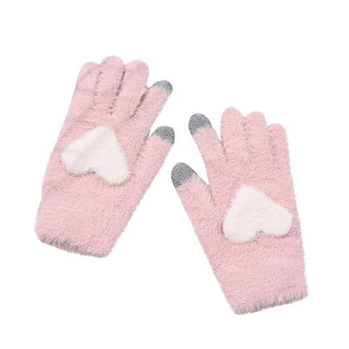 Las mujeres de invierno al aire libre guantes cálido col Shew cachemira encantador amor tejer mano más ерчаткимузскиенскиее