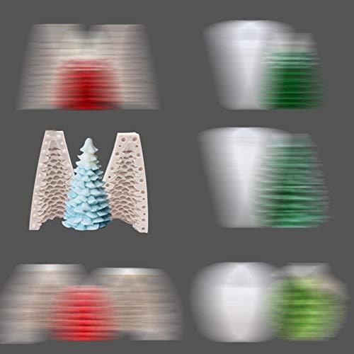 JPZCDK 1pc Moldes para fabricar Velas de Silicona Moldes de jabón Moldes para Hornear Moldes para Bricolaje Navidad Fabricación de Velas para Hornear Jabón, moldes para Velas
