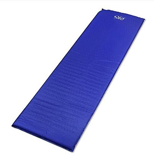 YSYW Einzelne Aufblasbare Isomatte Selbstaufblasende Leichte Schlafsackmatratze,Blue