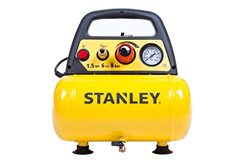 Stanley D 200 Compressore 6 Lt 1,5HP, pressione max 8 bar/116 PS