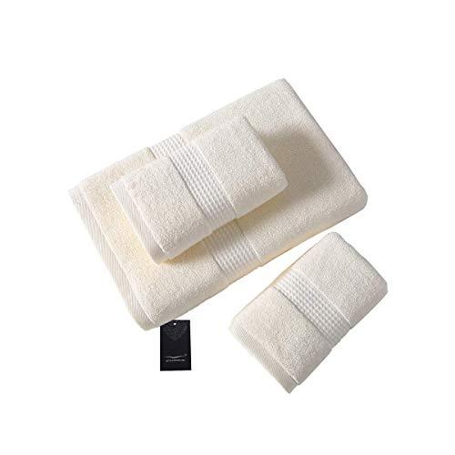 CHARS Bath Hand Towel Sets  100% Cotton Premium Quality Bath Sheet for Bathroom Hotel Spa  3 Piece Highly Absorbent Bathroom Towels Set(1 Bath Towels 2 Hand Towels Beige