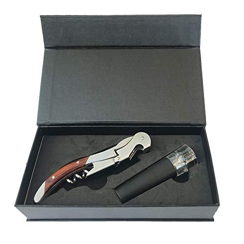 Wein-Zubehör-Set, professioneller Korkenzieher/Flaschenöffner mit Vakuum-Flaschenverschluss – in Präsentationsbox