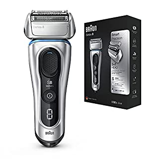Braun Series 8 8330s Next Generation, Electric Shaver for Men, Rechargeable and Cordless Razor, Silver, Fabric Travel Case, Wet and Dry, Foil Shaver (B088TLC3Y1) | Amazon price tracker / tracking, Amazon price history charts, Amazon price watches, Amazon price drop alerts
