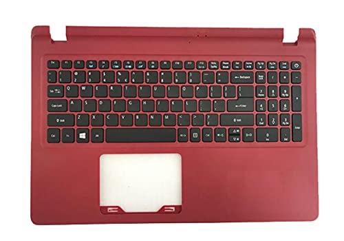 HuiHan Replacement for Acer Aspire ES1-523 ES1-532 ES1-533ES1-572 US Keyboard Red Palmrest Upper Case