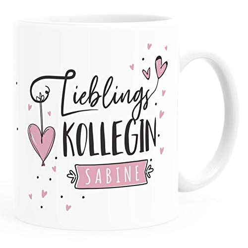 SpecialMe® Tasse Lieblings-Kollegin personalisierbar mit Namen persönliche Geschenke kleines Dankeschön weiß Keramik-Tasse