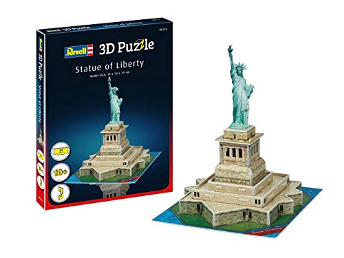 Revell- Statua della libertà 3D Puzzle, Colore Multi-Colour, 00114