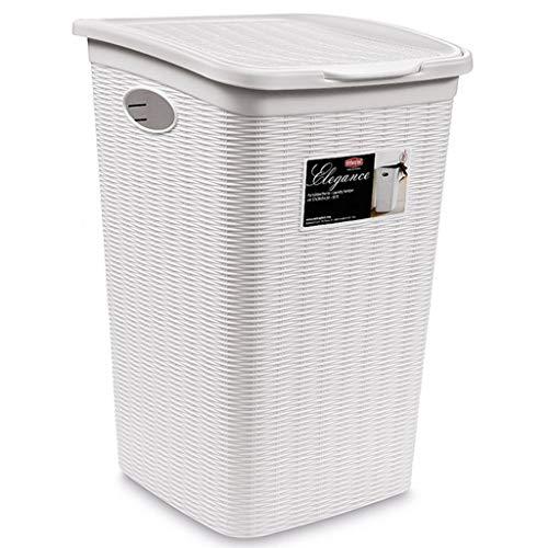 Wäschekörbe Schmutziger Haushaltsbadezimmer Kleiderablage Wäschebehälter mit 50 Liter Fassungsvermögen Seitengriff Design Clamshell Design Sortierkästen