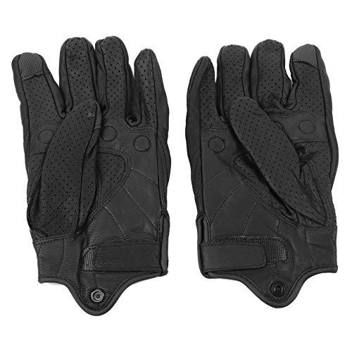KIMISS Guanti da moto per uomo e donna Touchscreen a dito pieno Guanti da moto Guanti invernali in pelle di pecora Guanti da motociclista per fuoristrada Protezione all'aperto(XL)