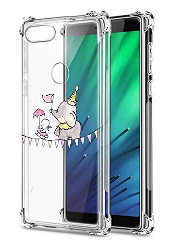 Suhctup Funda Transparent Compatible para Xiaomi Redmi S2,Carcasa Protectora [Antigolpes] Suave Silicona TPU Bumper Cojín de Aire de Cuatro Esquinas Protector Gel para Redmi S2,A19