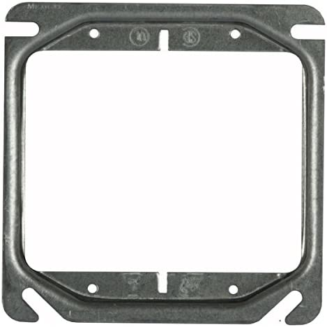 Hubbell Raco 8779 Raised 3 4 Inch 4 Inch Square Mud Ring For 2 Devices Electrical Boxes Amazon Com