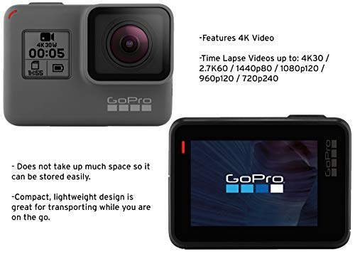 Gopro hero5 black (e-commerce packaging) 8 this product is in manufacturer e-commerce packing (see pictures). The product itself is identical to the one found in retail packaging & it is covered under full standard warranty stunning 4k video and 12mp photos in single, burst and time lapse modes durable by design, hero5 black is waterproof to 33ft (10m) without a housing