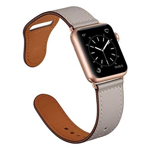 Correa para apple watch series 6 band 44mm iwatch 38mm 42mm cinturón de cuero correa de reloj inteligente pulsera apple watch SE 5 4 3 40mm