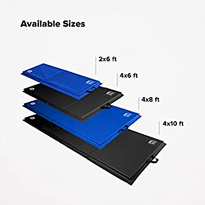 We Sell Mats Folding Exercise Mat, Personal Fitness Gym Flooring, for Core Workouts, MMA, Gymnastics and Cheerleading Use, Portable with Hook & Loop Fasteners, Multiple Colors and Sizes