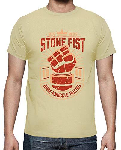 tostadora - T-Shirt Steinerne Faustboxen - Manner Creme XL