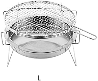 Outdoor Stainless Steel BBQ Grill Small Portable Barbecue Grilled Net Camping Picnic Charcoal Folding Barbecue