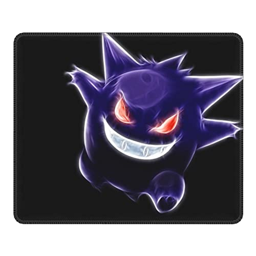 Gengar Computer Office Gaming Mouse Pad/Anime Mouse Pad, Gaming Youth Adult Computer Office 7.9inx9.5in Non-Slip Rubber Base Mouse Pad