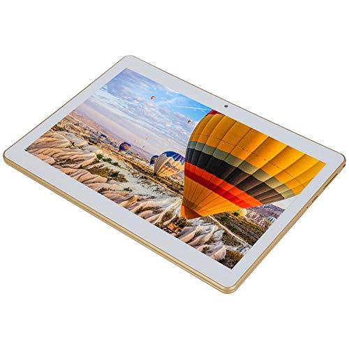 FECAMOS Tabletas para computadora (Doradas), Tableta de 10 Pulgadas con 6 GB + 64 GB para Entretenimiento Laboral, tabletas MT6580 Quadcore con GPS + FM + WiFi + Bluetooth para Regalos para niños(EU)