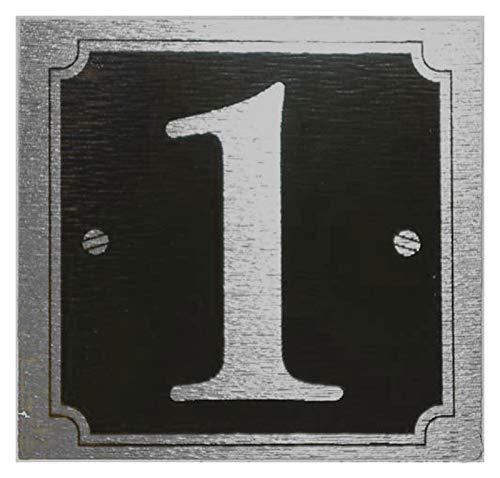eCobbler Stick sur porte Noir Chiffres bkground – Numéro 1
