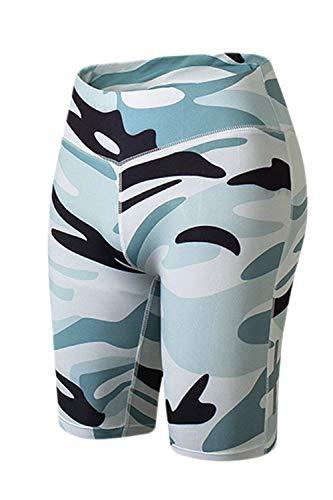 Adelina korte legging voor dames, snel en rekbaar, yoga, camouflage, workout, modieus, completi, fitness, hardlopen, boxershort