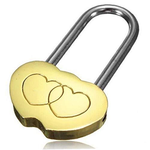 Case Cover Mini Padlock Liebes-Verschluss Eingraviertem Double Heart Valentines Anniversary Day Geschenke Für Ewige Liebe