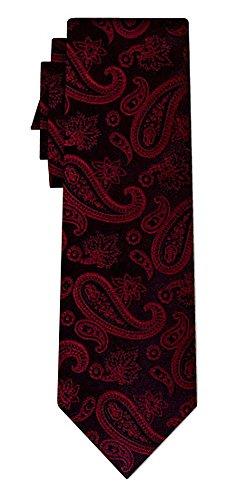 Cravate soie paisley pattern burg black