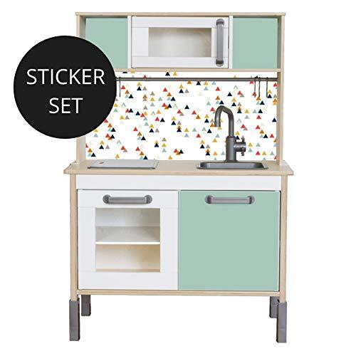 Limmaland Sticker für IKEA DUKTIG (Mint) - Kinderküche Nicht inklusive