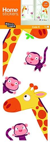 Fenstersticker Giraffen und Affen - Fensterfolie Fenster Deko Kinder
