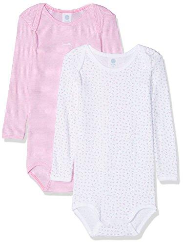 Sanetta Baby-Mädchen DP 322549+322550 Formender Body, Weiß (White 10), 98 (2er Pack)