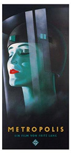 Kunstdruck / Poster Werner Graul - Metropolis - 88 x 190cm - Premiumqualität - Klassische Moderne, Persönlichkeiten, Plakatkunst, Film, Fritz Lang, Portrait, Frau, - MADE IN GERMANY - ART-GALERIE-SHOPde