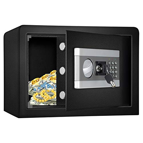 US STOCK Kacsoo 0.8 Cubic Feet Safe Security Box, Fireproof and Waterproof Safe Cabinet, Digital Combination Lock Safe with Keypad LED Indicator, for Home, Business or Travel (0.8)