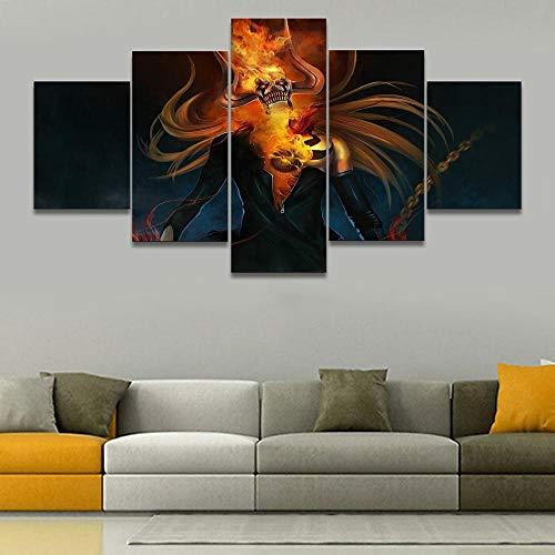 65Tdfc Hd-Druck 5 Leinwandbilder Wandkunst Wohnzimmer Wanddekoration Landschaft Tier Natur Wandbild Moderne Leinwand/Cartoon Minotaurus