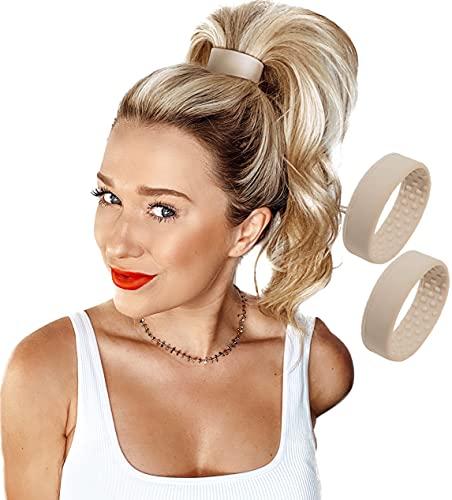 PONY-O 2 Pack Dark Blonde Original Patented Hair Accessory, Ponytail...