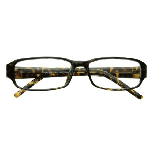 Slim Classic Square Clear Lens Fashion Eye Glasses Eyewear (Tortoise Shell)