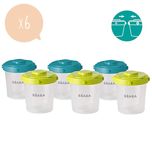 BÉABA Lot de 6 Portions Clip Conservation, 200 ml