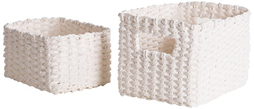 Compactor Home Storage Lisou CESTAS, Papel, Blanco, Talla única