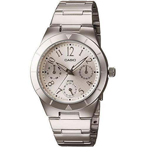 Reloj Analógico de Cuarzo Casio Collection, para mujeres, con correa de acero inoxidable LTP-2069D-7A2VEF