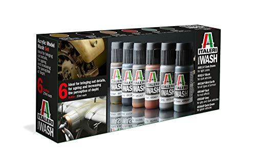 ITALERI 448AP - Acryl Model Wash Set, Modellbau, Bausatz, Standmodellbau, Basteln, Hobby, Kleben, Plastikbausatz