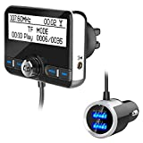 BYBYC Universal Car DAB Radio Receiver Tuner FM Transmitter Plug-and-Play-DAB-Adapter USB-Ladegerät 5V / 2,1A QC3.0 Version 4.2 + EDR