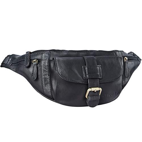 STILORD 'Sam' Riñonera de Piel Vintage Bolso de Cadera cinturón o Cintura de...