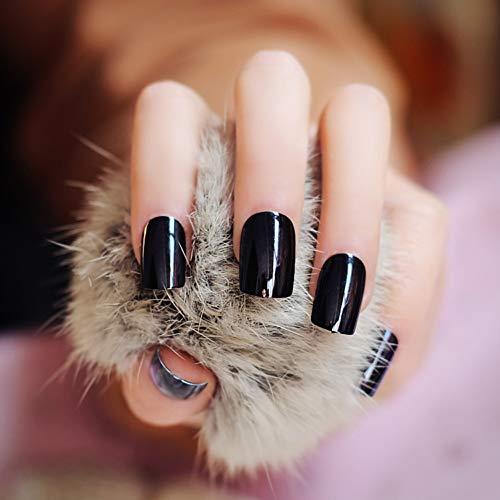QSDFG Long Presse carrée sur Les Ongles Rose Rouge Miroir Métal Faux Ongles Belle Conception Brillante Nails Fournitures