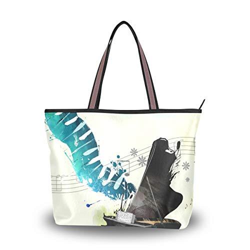 Eslifey Cool Piano Concert In Sky Damen Handtasche Schultertaschen für Damen Mädchen Gr. 38, multi